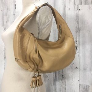 Cole Haan Village Leather Hobo Style Purse Bag.